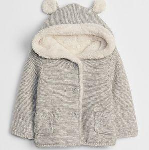 GAP   Unisex sherpa-lined garter sweater coat
